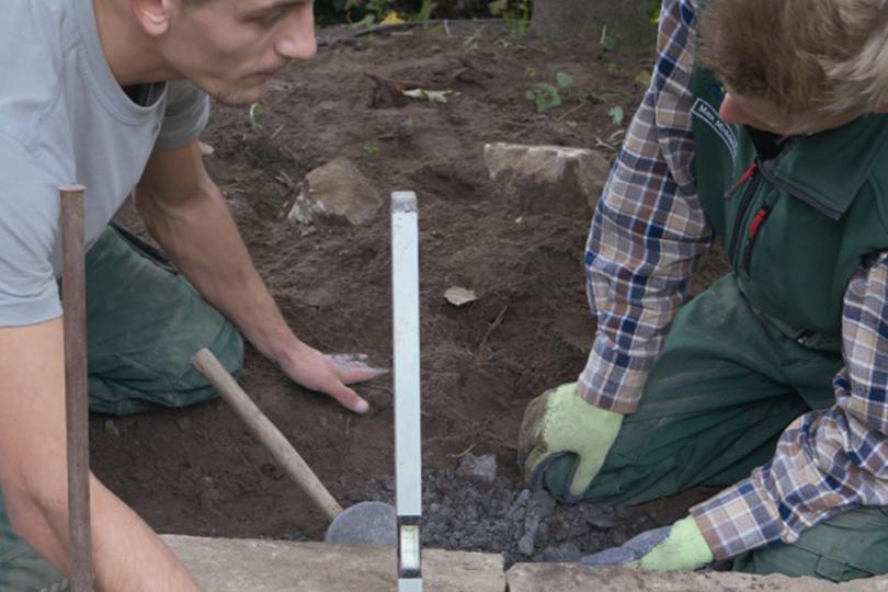 Ausbildung bau einer trockenmauer stefan tripp garten - Stefan tripp garten und landschaftsbau ...